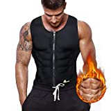 Gowhods Waist Trainer Sweat Vest for Men, Hot Neoprene Sauna Tank Top with Zipper, Compression Workout Corset|Slimming Body, Heat Keep Thermal Underwear, Gym Suit