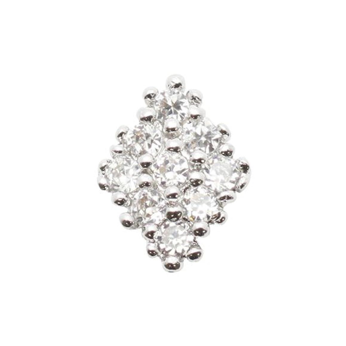 秋キリマンジャロガードエムプティ ネイルパーツ カーブシリーズ ダイヤモチーフ A134 1個