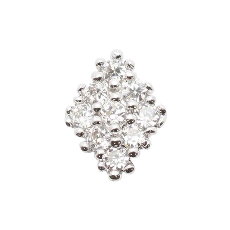 トレース光景恵みエムプティ ネイルパーツ カーブシリーズ ダイヤモチーフ A134 1個