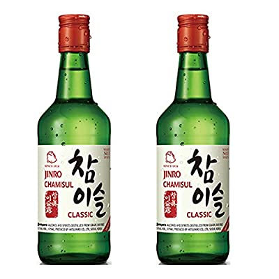 Jinro Chamisul Classic Soju Alc 20.1% by Vol. 350ml(Pack of 2)
