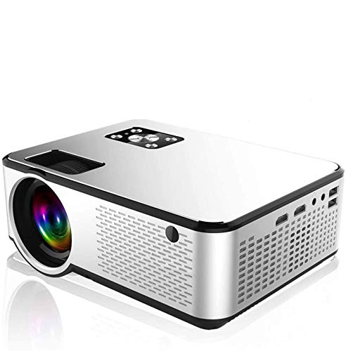 Min Home Projector 3000 Lux with 25000 Hours Lamp Life Portable Movie Projector with 40,000 Hrs LED Lamp Life, Compatible with TV Stick, PS4, HDMI, VGA, TF, AV and USB