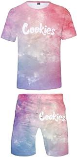 Unisex Casual Biscuit Shirt 2 Short-Sleeved Clothing Set Summer Novel Active Sportswear (Color : Jkuan, Size : -S)