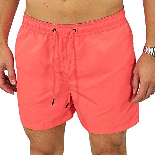 JACK & JONES Herren Badeshorts jjiBahne jjSwim Shorts Badehose, Größe:L, Farbe:Orange