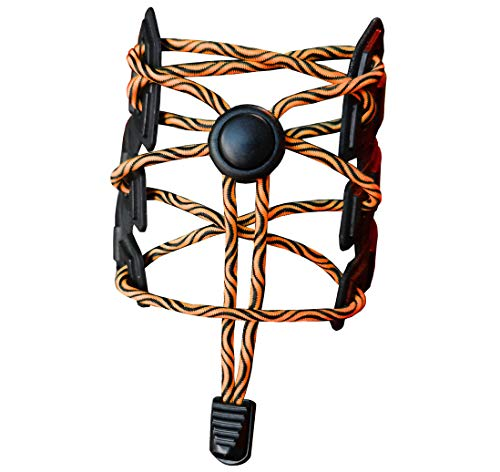 Junlic Elastische Schnürsenkel mit Schnellverschluss, [3 Paar] Wasser Wellen Reflektierend Schnellschnürsystem mit 120cm Länge für Sportschuhe und Sneaker Schuhbänder für Läufer, Kinder, Faule