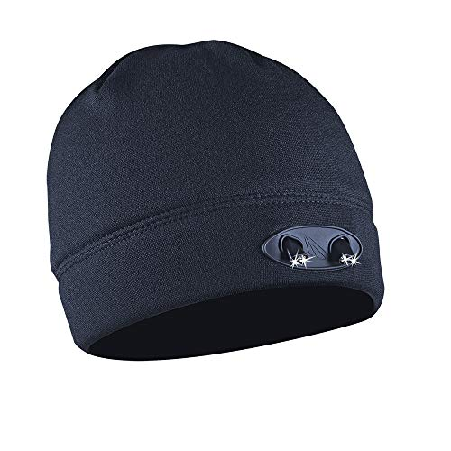 Powercap LED-Beanie-Mütze, 35/55, ultrahell, mit LED-Beleuchtung, batteriebetrieben, Stirnlampen-Hut – Kompressions-Fleece, Unisex-Erwachsene Damen, CUBWB-4737, navy, One Size Fits Most