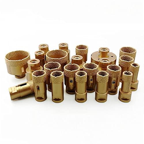 1pc Brocas de núcleo de perforación de diamante seco soldadas al vacío M14 Brocas de conexión Brocas de porcelana, sierra de granito, 115 mm, China