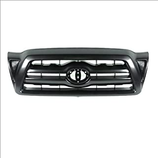 CarPartsDepot, Front Grille Replacement Black Plastic Without Emblem, 400-44543 TO1200269 5310004350