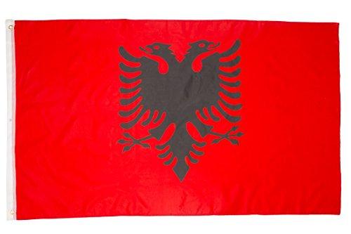 shenky Flagge Fahne 150x90cm Verschiedene Länder Fan Fussball (Albanien)