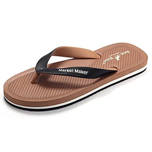 Zapatillas de playa antideslizantes Sandalias de verano para mujer, para hombre, de secado rápido, zapatos de piscina para vacaciones, chanclas, informales para tamaño familiar/Brown / 41/42