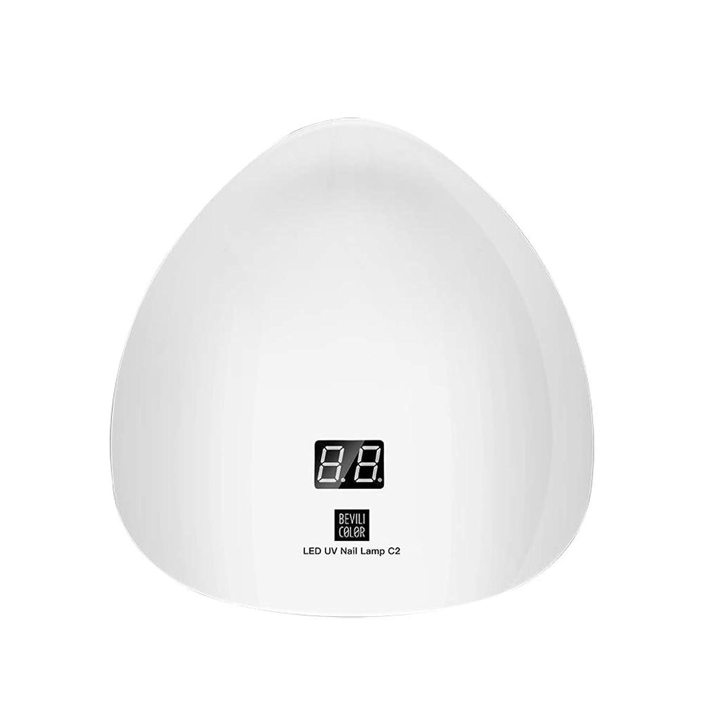 乳白極小うぬぼれLITI LEDネイルドライヤー UVライト 45W ハイパワー 15LED 高速硬化 自動センサー UVとLEDダブルライト