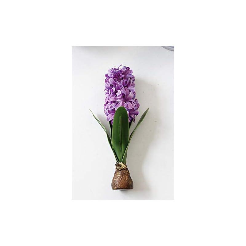 silk flower arrangements shinebear artificial flower hyacinth with bulbs ceramics silk flower simulation leaf wedding garden decor home table accessorie plant 1pc - (color: purple)
