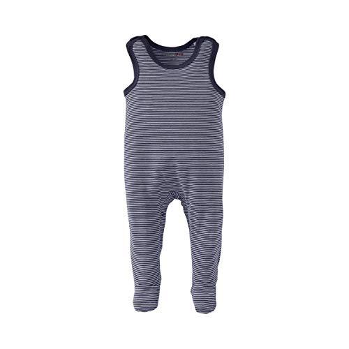 Bornino Bornino Strampler - gestreifter Baby-Einteiler mit Druckknöpfen in Schulter- & Schrittbereich - bequemer Overall aus Reiner Baumwolle