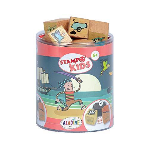 ALADINE 3003327 - Stampo Kids Piraten, 16-delig