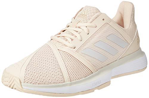 adidas Court Jam Bounce Allcourtschuh Damen-Creme, Hellgrau, Zapatillas de Tenis para Mujer, Beige Gris Blanc, 40 2/3 EU