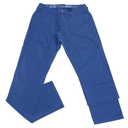 Carlo Chionna 5101X Pantalone Uomo 9.2 Blue Cotton Trouser Man [31]