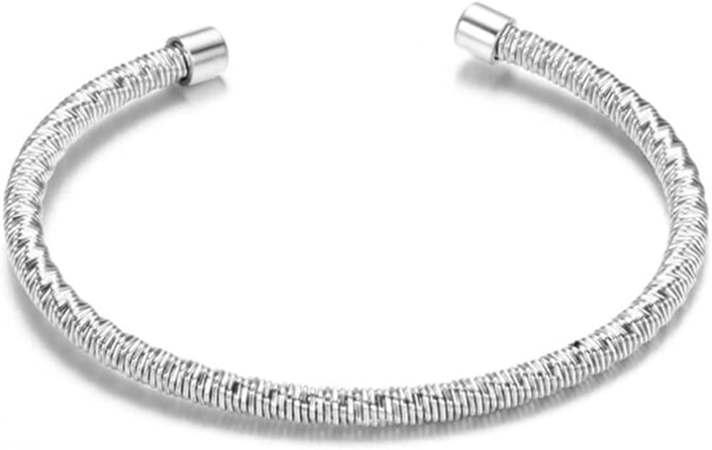 Stainless Steel Braide Cable Wire Mesh Open Cuff Bangle Bracelet