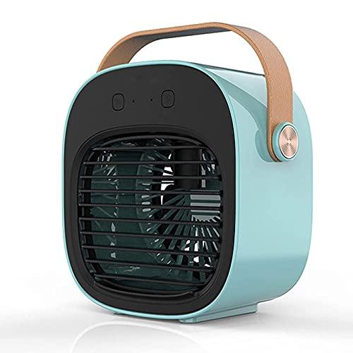 HUIXINLIANG Desktop Silent Water-Cooled Spray Air Conditioner Fan, 3 Speeds Personal Air Conditioner Misting Fan, 4000mAh Cooling Fan Mini Air Cooler for Garage, Bedroom,Office Room