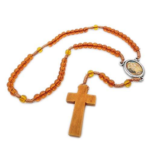 Hachette Rosenkranz des Guten Samarita 30 cm aus der Kollektion Rosenkränze der Hingabe Papst Franziskus Kreuz Anhänger