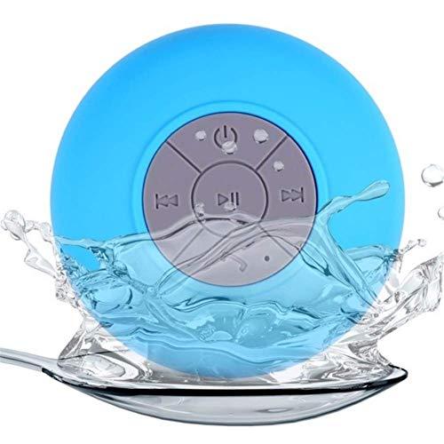 LHFLU-SP Mini Altavoz Bluetooth Manos Libres Inalámbrico Portátil Inalámbrico Inalámbrico, para Duchas, Baño, Piscina, Coche, Playa y Superar,Azul