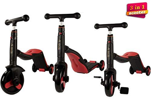 AIREL Trotinette 3 en 1 | Trotinette Enfant 3 Roues | Tricycle de Scooter d'enfants | Voiture D'équilibre,...
