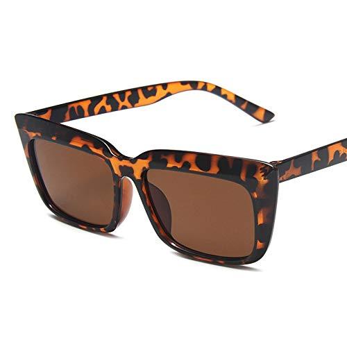 Gafas De Sol Las Más Nuevas Gafas De Sol Cuadradas De Diseñador para Mujer, Gafas De Sol Retro Rectangulares, Gafas De Sol De Moda para Mujer, Uv400 C2Leopard