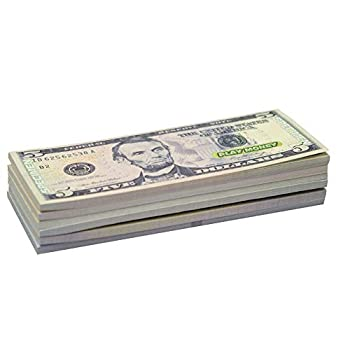 KIDSTHRILL US Play Money One-Sided 20 Bills of $1 $5 $10 $20 $50 & $100 for Monopoly and Educational Use for Children in All Ages - Miniature Money 4 ¼ Long 1 ¾ Wide