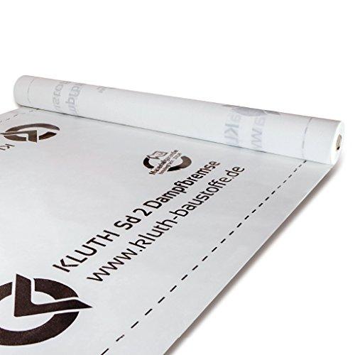 Kluth SD 2 Dampfbremse flexibel strapazierfähig feuchtigkeitsregulierend SD-Wert 2m - 75m² (1,5m x 50m)