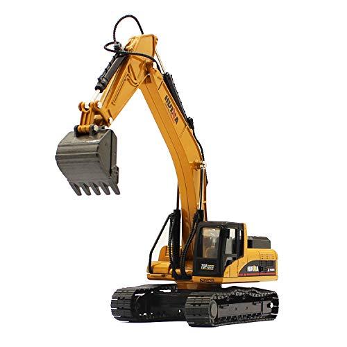 fisca 1/50 Diecast Excavator Metal Model Construction Vehicle Toy