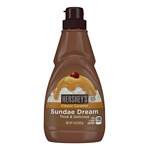 HERSHEY'S SUNDAE DREAM Syrup, Classic Caramel Syrup (Kosher Dessert Topping), 15 Ounce Bottle (Pack of 6)