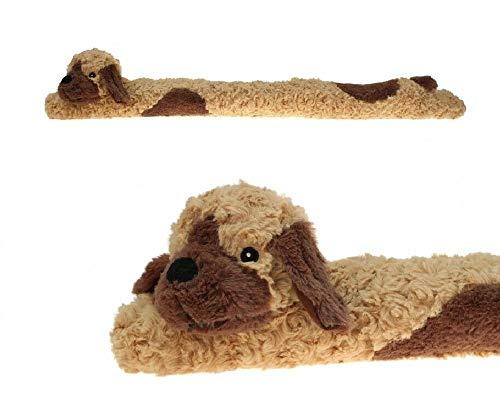 Sonnenscheinschuhe® Zugluftstopper 90cm Windstopper Hund Plüsch Kissen Nackenrolle Rolle