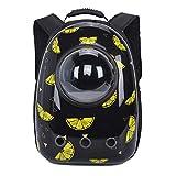 HONGGANG Cápsula Espacial Perro Gato portátil Porta Bolsa de Aire Acondicionado Astronauta Bolsa de Viaje Transparente Exterior Gatito pequeño Porta Mochila de Mascota B