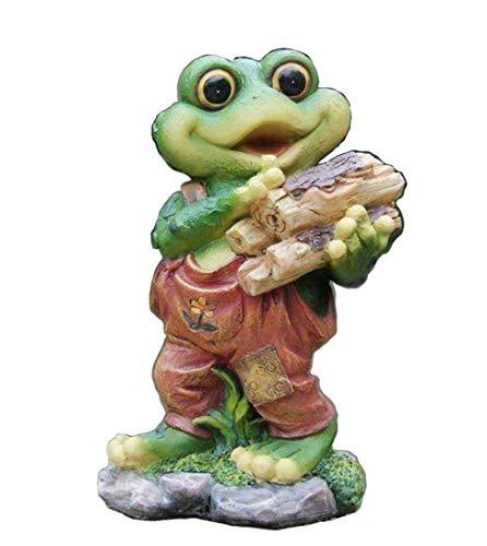 Design Frosch 29 cm Hoch 11151 Deko Garten Gartenzwerg Figuren Dekoration (Design 2)
