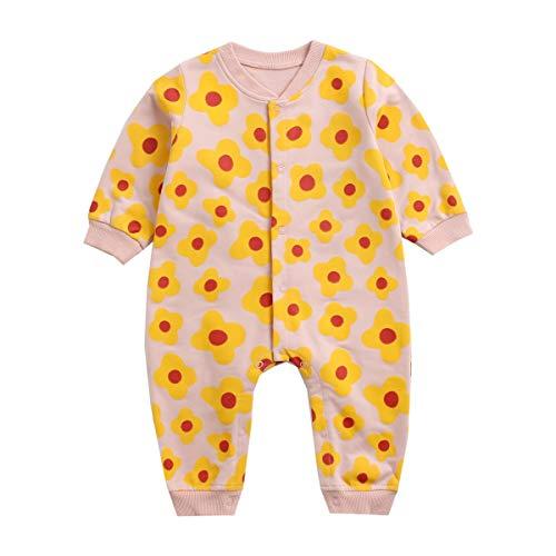 UMore Bebé Mameluco de Algodón Recién Nacido Pelele Niño Niña Pijama Monos Manga Larga Body Ropa para Bebé 0-24 Meses