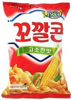 Lotte Original Kko Kkal Corn Chips 2.72oz (2 Pack)
