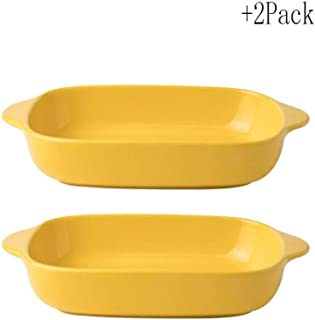 Exquisite Craftsmanship Ceramic Binaural Anti-scalding Baking Tray Tableware Household Baking Tray Baking Heat-resistant T...