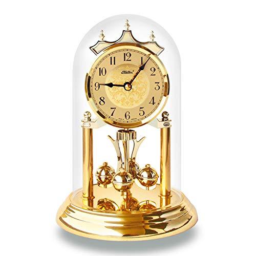 SELVA Haller Quarz-Jahresuhr Agnes – Klassisches Modell in hochwertiger Verarbeitung – Made in Germany – 4/4-Westminster- und Bim-Bam-Schlag. (Gold, 15 x 23cm)