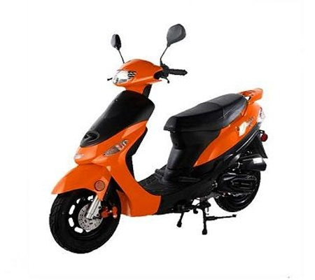 powerful 50cc Gas Street Legal TaoTao ATM50-A1 Scooter-Orange