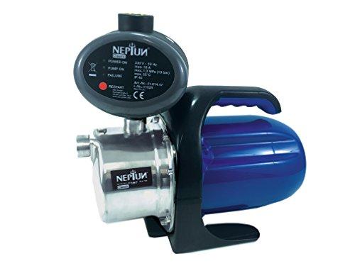 Neptun Classic Hauswasserautomat Wasserpumpe Brunnenpumpe Gartenpumpe / 4 bar / bis 4000 l/h Fördermenge / Ansaughöhe bis 8 m / Förderhöhe bis 40 Meter (NCHA-E 110)