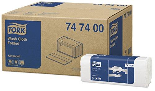 Tork 747400 Chiffon de nettoyage Advanced - Blanc - 4 plis - 20 x 120 chiffons - 19 x 25 cm