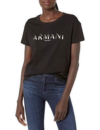 Armani Exchange Womens T-Shirt, Black, XS