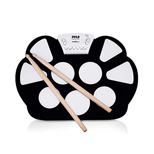Pyle Electronic Roll Up MIDI Drum Kit