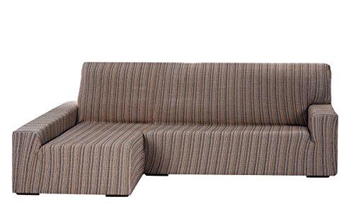 Funda Elástica para Sofá Chaise Longue, modelo MEJICO, Brazo Izquierdo, color MARRÓN, Tamaño desde 240 a 280 cm