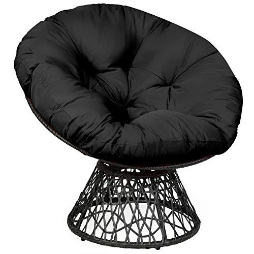 Giantex Rattan Round Papasan Chair, 360-Degree...