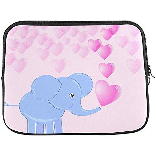 Leuke baby olifant maken zeep bubbels in vorm mouw zachte laptop tas zak