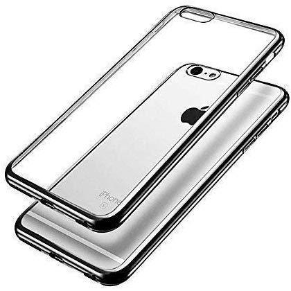 Apple iPhone 6Plus/6S Plus Fall Schwarz superdünn stoßfest Metall Galvanotechnik Technologie Soft Gel TPU Silikon Case Cover von Gadget Boxx