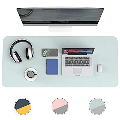 Amazon - Save 50%: Desk Pad Protector,Leather Desk Blotter Dual Sided Desk Non-Slip Mat,Water…