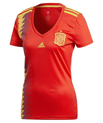 adidas Línea Federación Española Camiseta de Equipación, Mujer, Rojo (Rojo/dorfue), XS