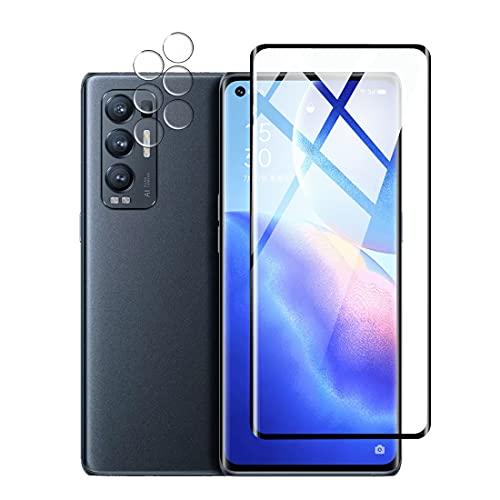 Protector de Pantalla para Samsung Galaxy A82 Cristal Templado Protector de lente de cámara, [Cobertura máxima][Sin Burbujas] HD Cristal Vidrio Templado -Black