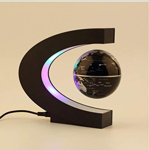 Globos de levitación magnética Globo Flotante en Forma de C Mapa del Mundo Globo terrestre antigravedad Luz LED Decoración del hogar Regalo de cumpleaños de Santa