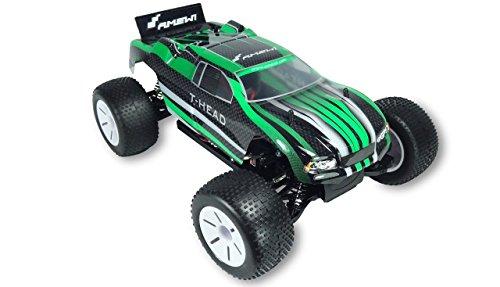 Amewi 22233 T-Head Truggy 4WD Brushed, Spielzeug, 1: 10 RTR, Grün